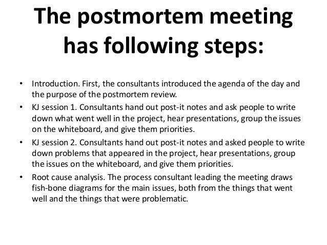 postmortem analysis