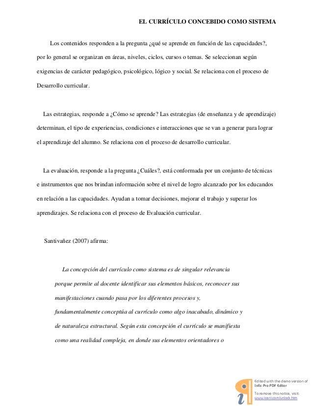 REFLEXIONES SOBRE CURRICULO Y SISTEMA CURRICULAR -DESARROLLO