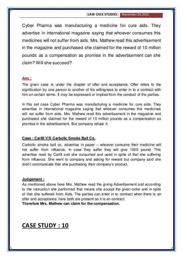business law case studies ppt