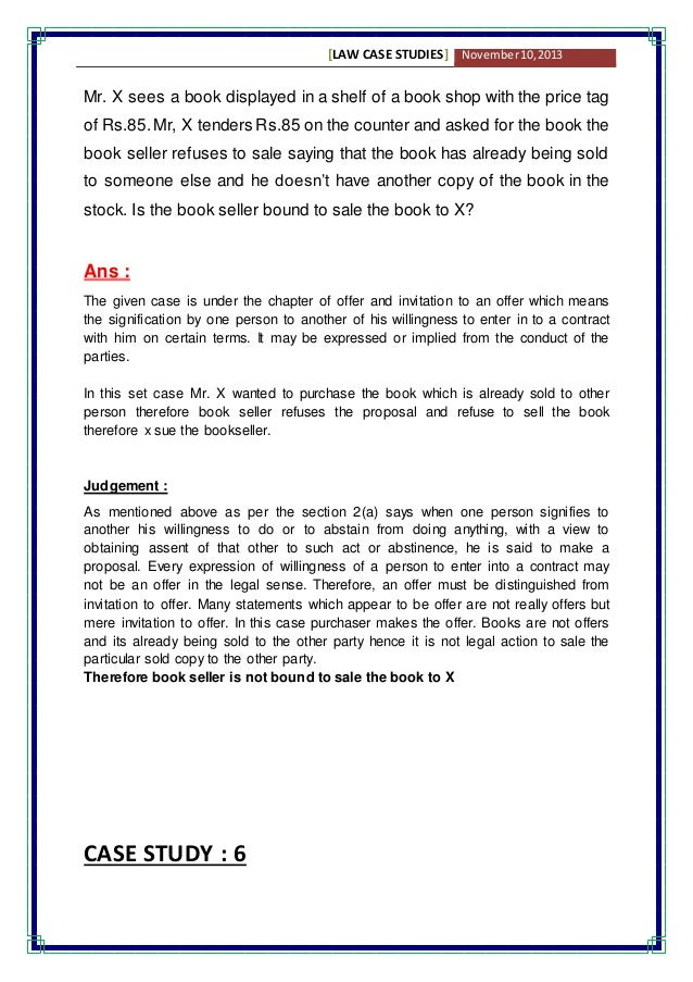 business law essay examples
