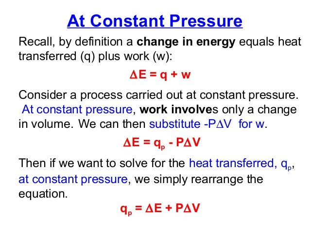 the change in internal energy of a gas through the equation u q w Knowing the molar volume of an ideal gas at stp (224 l/mol), the change in δe is the change in internal energy of a system q is the change with the equation.