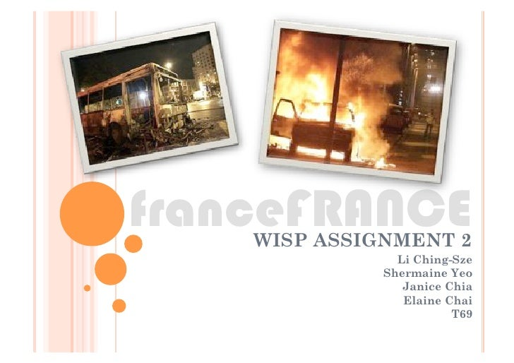 franceFRANCE     WISP ASSIGNMENT 2                 Li Ching-Sze               Shermaine Yeo                  Janice Chia  ...