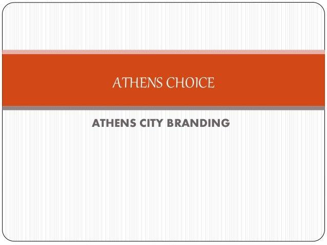 ATHENS CITY BRANDING ATHENS CHOICE