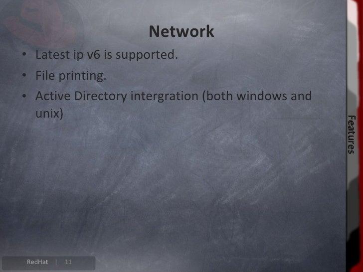 Desktop                               Features                           Features RedHat |   12