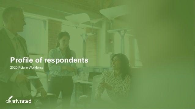 Profile of respondents 2020 Future Workforce