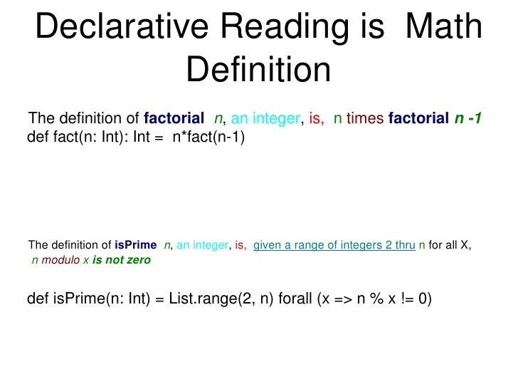 what does the word declarative mean