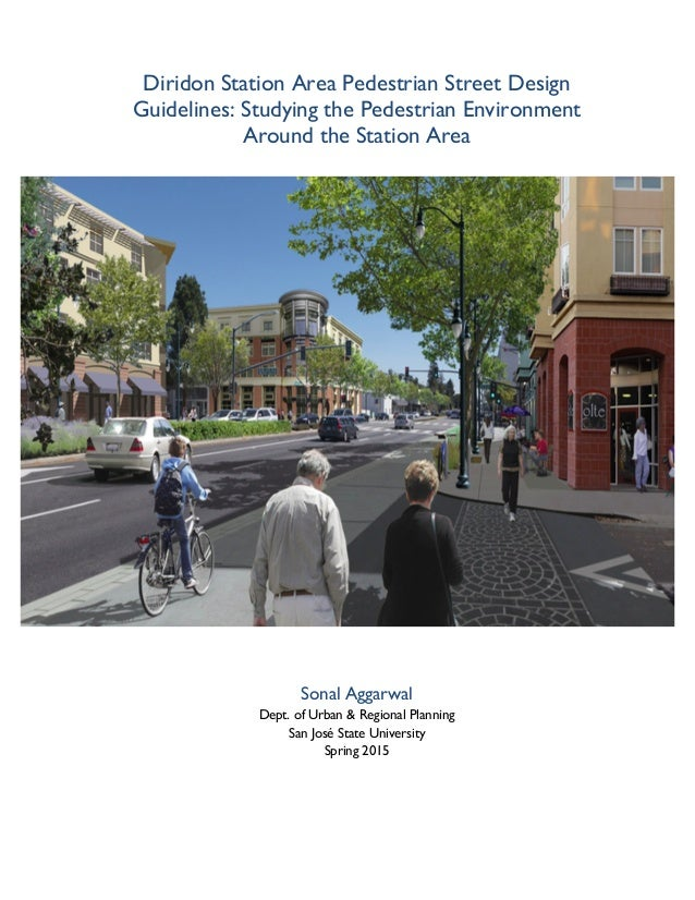 Masters Dissertation Diridon Station Pedestrian Street Design Guide