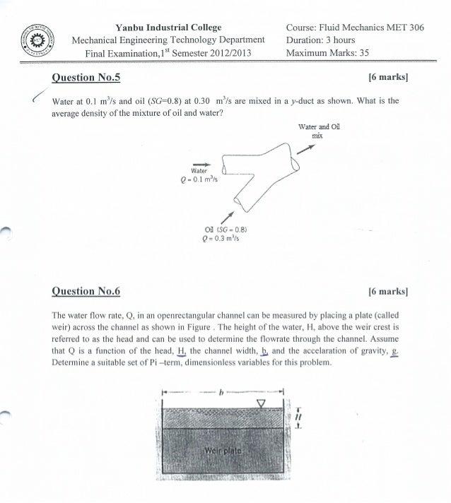 MET 306 Final Examination 3