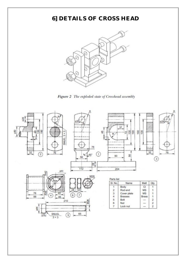 Assembly and details machine drawing pdf 6 details of cross head ccuart Choice Image