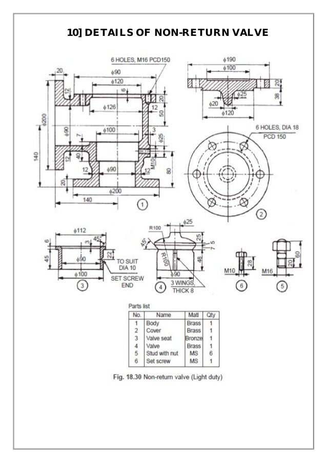 Assembly and details machine drawing pdf 10 details of non return valve ccuart Image collections
