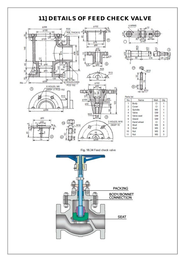 Assembly and details machine drawing pdf 11 details of feed check valve ccuart Images