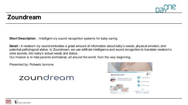 Zoundream Short Description. : Intelligent cry sound recognition systems for baby-caring Detail : A newborn cry sound embo...