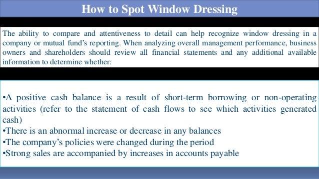 window dressing accounting gaap