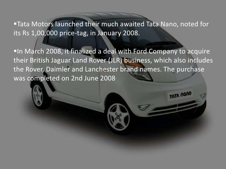 tata motors jlr the success Tata motors case 19  did acquisition of the business units of jaguar and land rover (jlr), of ford  what are the key success factors for a successful.