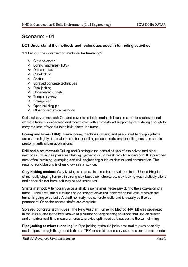 Unit 37: Advanced Civil Engineering