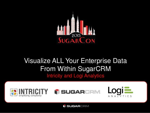 Visualize ALL Your Enterprise DataFrom Within SugarCRMIntricity and Logi Analytics