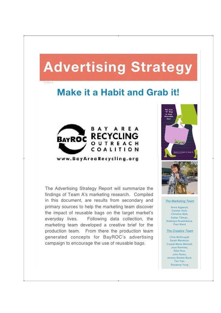 Advertising Strategy TEAM A             Make it a Habit and Grab it!                                                      ...