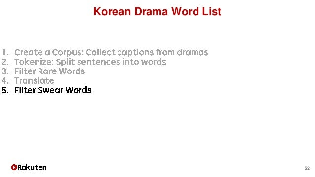 52 Korean Drama Word List
