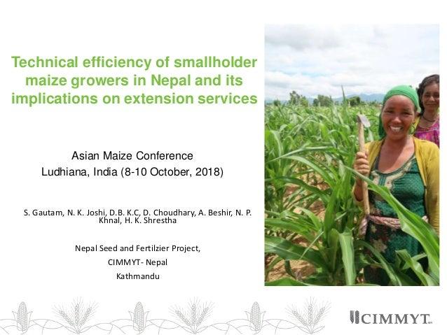 Technical efficiency of smallholder maize growers in Nepal