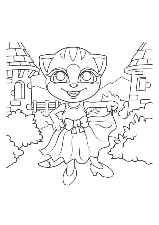 Emma The Cat Coloring Pages Free Printable Coloring Book