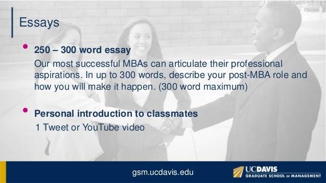 essays 250 words maximum