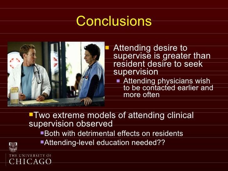 resident vs attending physician