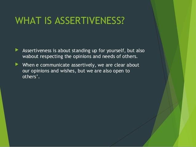 Assertiveness skills definition