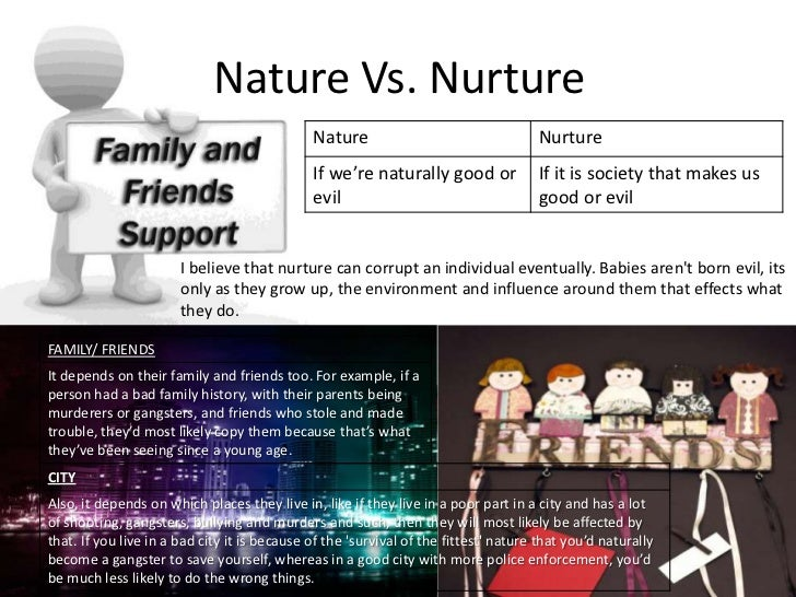 human nature powerpoint final assesment  nature vs nurture
