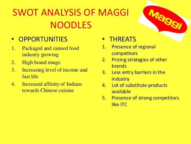 Product mix of maggi