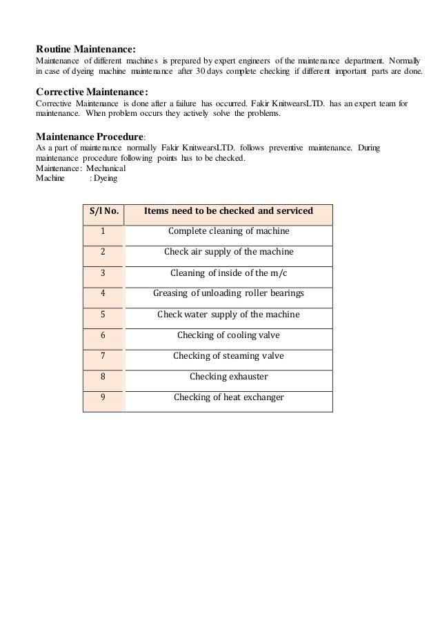 Industrial Attachment of Fakir Knitwears Ltd