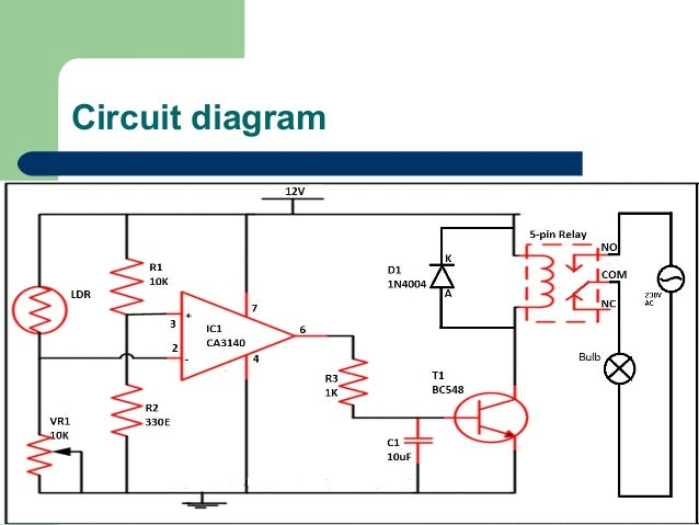 Circuit Diagram For Automatic Street Light | Automatic Control Of Street Light Using Ldr