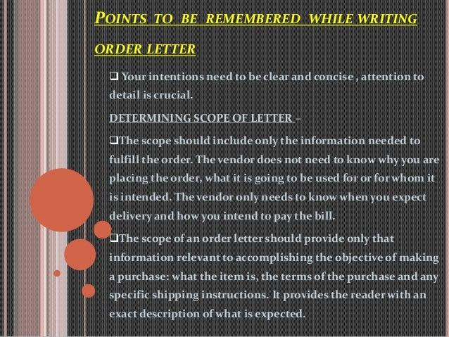 orders letters – Order Letter