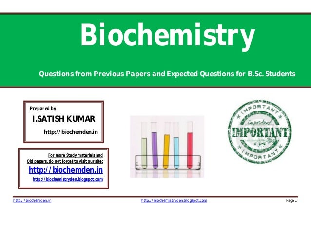 biochem report See the us news rankings for the world's top universities in biology and biochemistry compare the academic programs at the world's best universities.