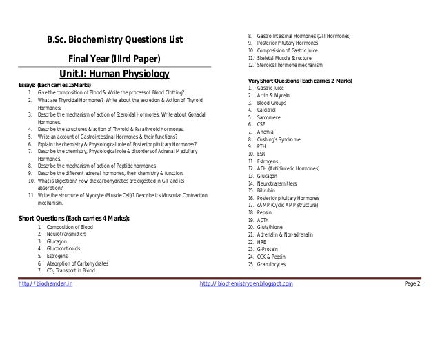 biochemistry research papers pdf