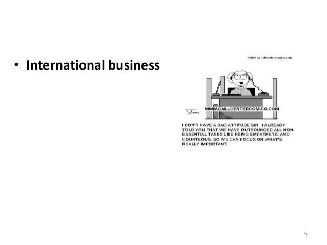 6 • International business