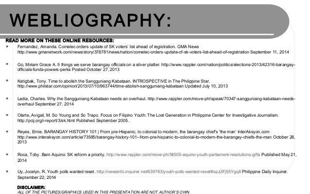 Sangguniang kabataan thesis