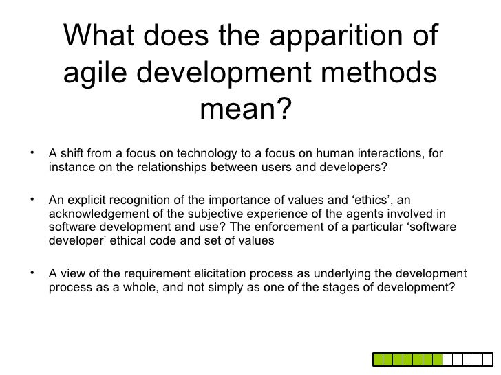A few possible directions of                   investigation•   Software design as discourse: investigating the use of dis...