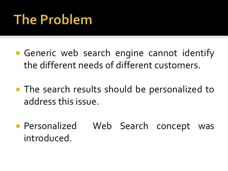 Personalized Web Search Slide 3