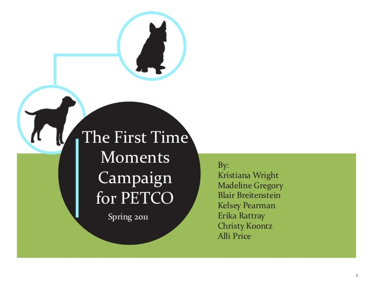The First Time  Moments        By:  Campaign       Kristiana Wright                 Madeline Gregory for PETCO       Blair...