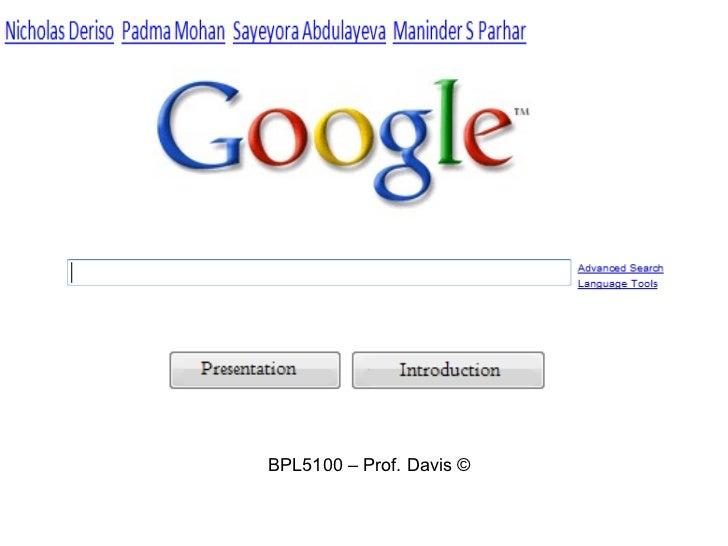 BPL5100 – Prof. Davis ©
