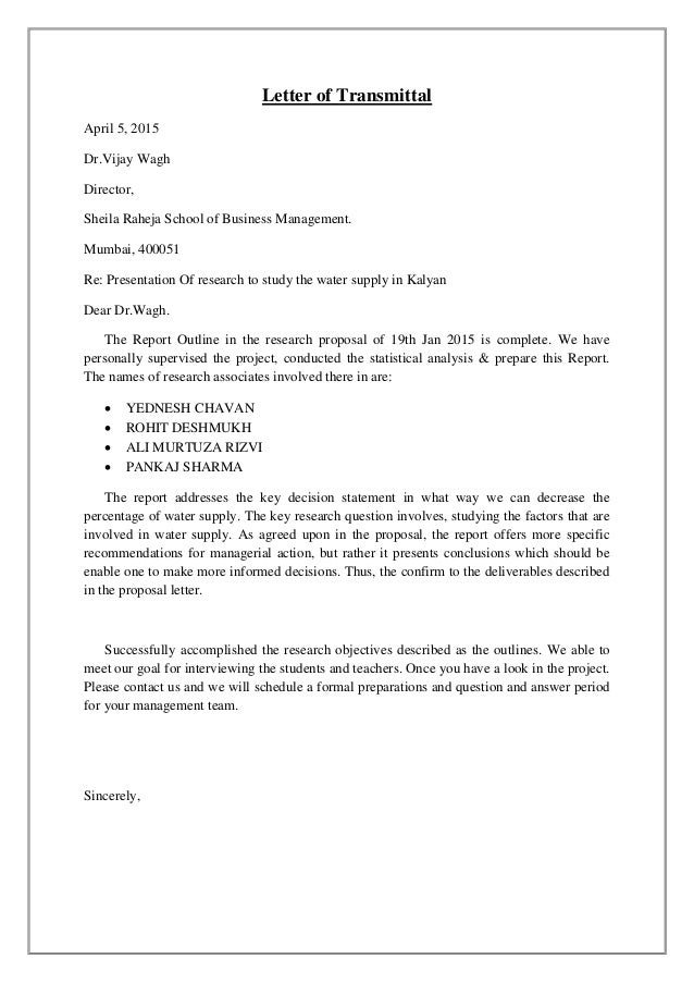 Complaint Letter Format For Water Supply. Letter  MBA 1st year statitics Data Analytics project
