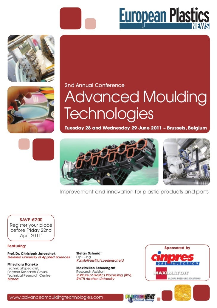 2nd Annual Conference                                    Advanced Moulding                                    Technologies...
