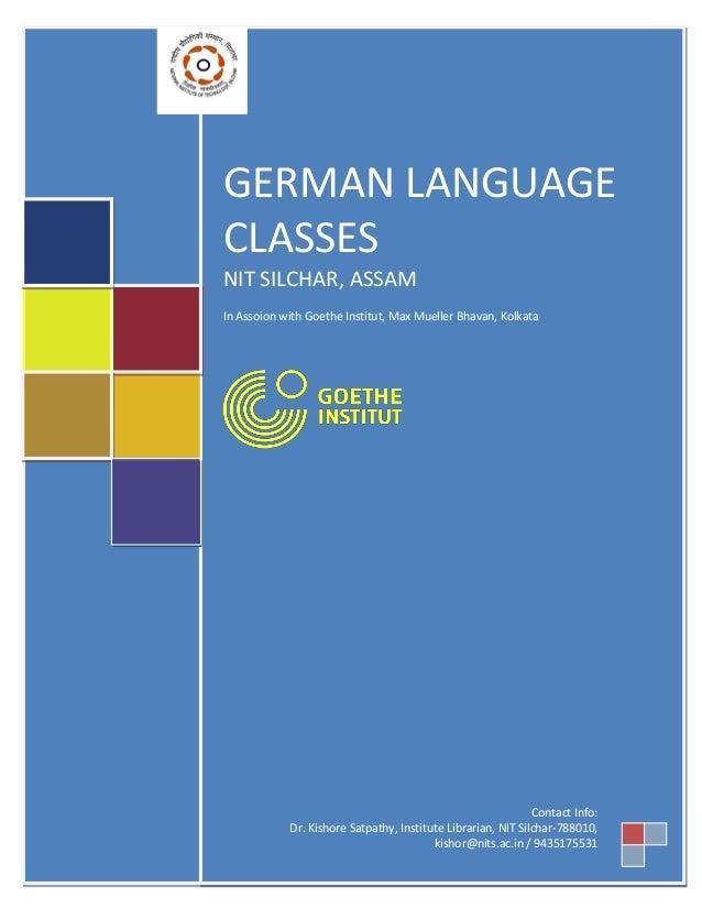 German Language Course @ NIT Silchar