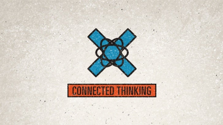 CONNECTED THINKING IS CREATING IDEAS AND PLATFORMS   TO ENGAGE CONSUMERS IN THE EXPERIENCE SPACE.