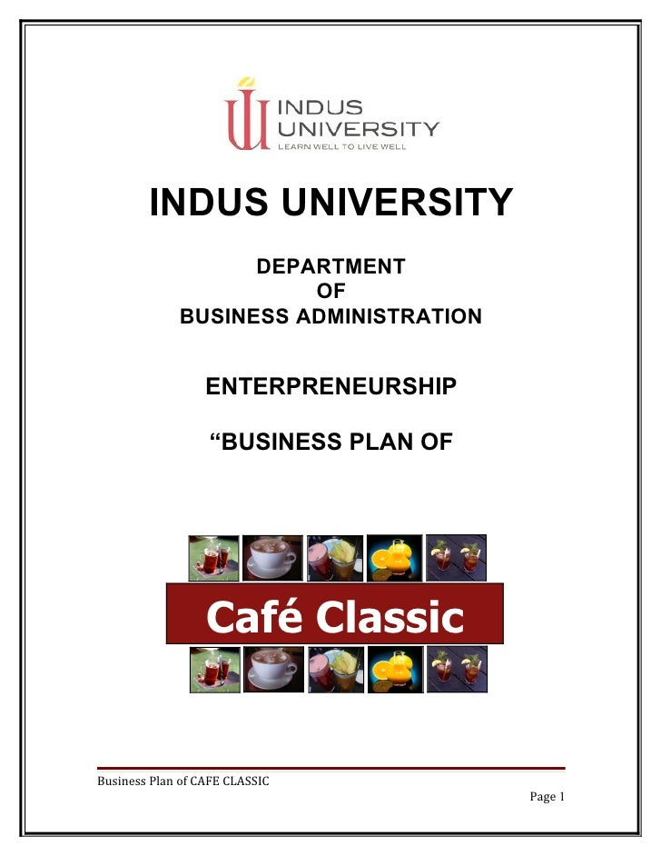 INDUS UNIVERSITY                   DEPARTMENT                       OF             BUSINESS ADMINISTRATION                ...