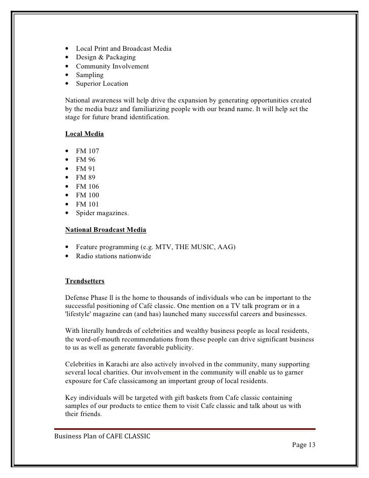 business plan for media ministry