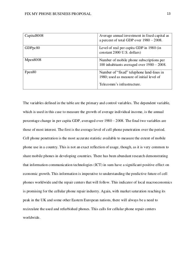 A business proposal example 13 fix my phone business proposal friedricerecipe Image collections