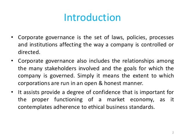corporate governance and its impact on The vote is cast: the effect of corporate governance on shareholder value vicente cu ˜nat, mireia gine, and maria guadalupe∗ abstract this paper investigates whether improvements in the firm's internal corporate gov- ernance create value for shareholders we analyze the market reaction to governance.