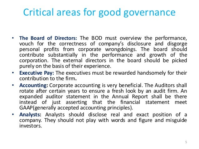 an examination of executive discretion and its effects on good governance The effect of remuneration committee independence on the pay  executive discretion over the pay  the impact of good corporate governance measured by.