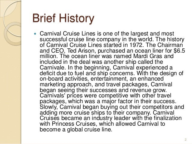 Carnival Corporation Powerpoint - Carnival cruise ship history